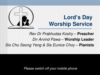 Lord ' s Day Worship Service