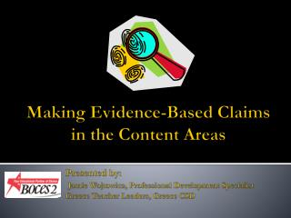 Making Evidence-Based Claims in the Content Areas