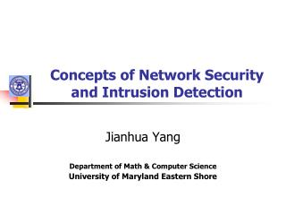Concepts of Network Security and Intrusion Detection