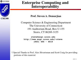 Enterprise Computing and Interoperability