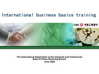 International business basics training
