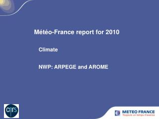 Météo-France report for 2010