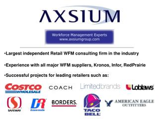 Successful projects for leading retailers such as: