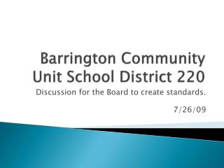 Barrington Community Unit School District 220