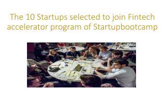 Startupbootcamp Fintech 2014 teams