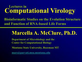 Computational Virology