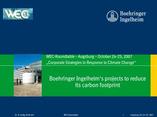 Boehringer Ingelheim's projects to reduce its carbon footprint