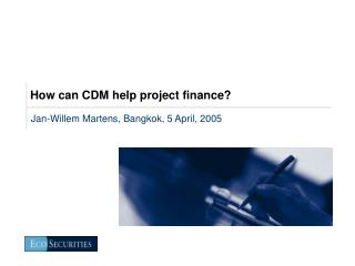 How can CDM help project finance?