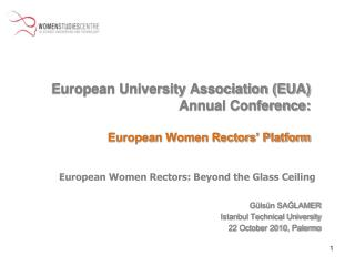 European University Association (EUA) Annual Conference: European Women Rectors' Platform