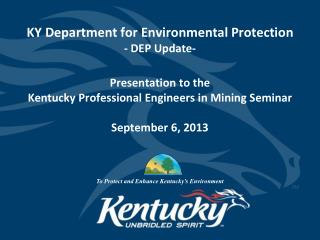 KY Department for Environmental Protection - DEP Update-