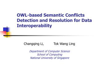 OWL-based Semantic Conflicts Detection and Resolution for Data Interoperability