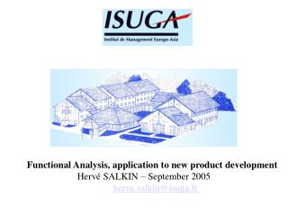 Functional Analysis, application to new product development