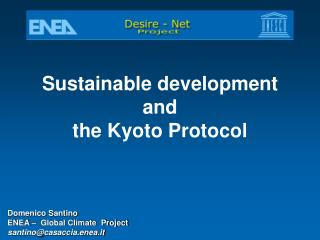 Sustainable development  and  the Kyoto Protocol