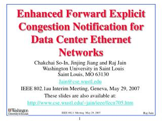 Enhanced Forward Explicit Congestion Notification for Data Center Ethernet Networks