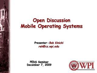 Open Discussion Mobile Operating Systems