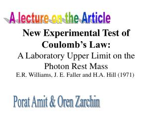 New Experimental Test of Coulomb's Law: A Laboratory Upper Limit on the Photon Rest Mass