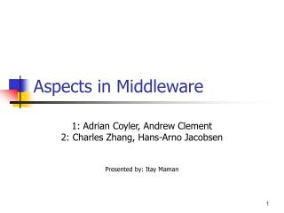 Aspects in Middleware