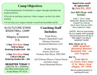 Camp Objectives