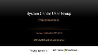 System Center User Group