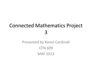 Connected Mathematics Project 3