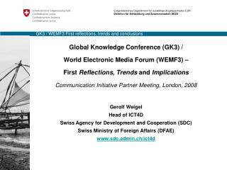 GK3 / WEMF3 First reflections, trends and conclusions