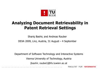 Analyzing Document Retrievability in Patent Retrieval Settings