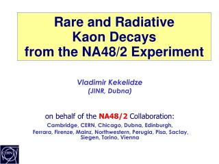 Rare and Radiative  Kaon Decays  from the NA48/2 Experiment
