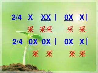 2/4 X XX ︳ 0X X ︳ 采 采采 采 采