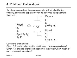 4. P,T-Flash Calculations