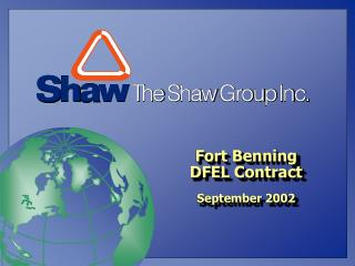 Fort Benning  DFEL Contract September 2002