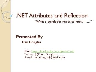 .NET Attributes and Reflection