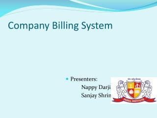 Company Billing System