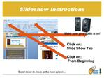 Slideshow Instructions