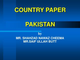 COUNTRY PAPER PAKISTAN