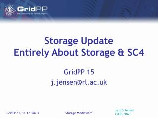 Storage Update Entirely About Storage & SC4