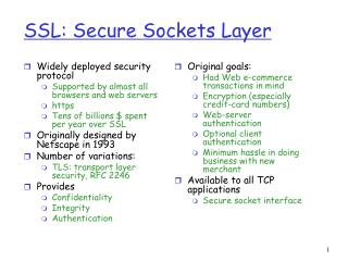 SSL: Secure Sockets Layer