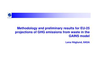 The GAINS model for GHG
