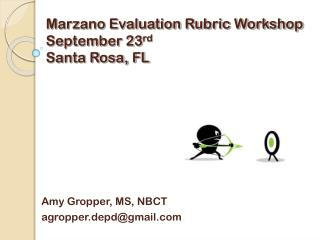 Marzano Evaluation Rubric Workshop September 23 rd Santa Rosa, FL