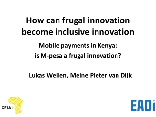 ICT and Poverty Reduction: Insights from M-PESA