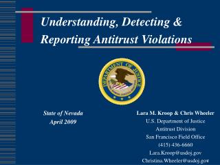 Understanding, Detecting &  Reporting Antitrust Violations