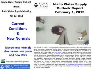 Idaho Water Supply Outlook IDWR State Water Supply Meeting Jan 12, 2012