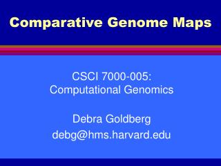 Comparative Genome Maps