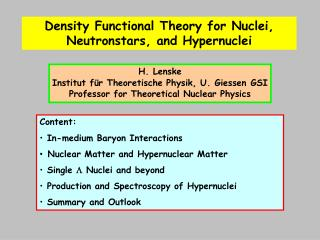 Density Functional Theory for Nuclei, Neutronstars, and Hypernuclei