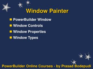Window Painter