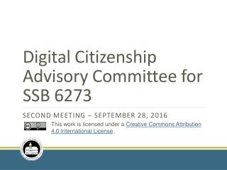 Digital Citizenship Advisory Committee for SSB 6273