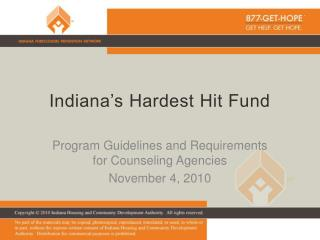Indiana's Hardest Hit Fund