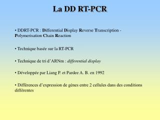 La DD RT-PCR