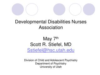 Developmental Disabilities and Sleep Disorders Not Recognized and Not Treated