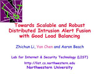 Towards Scalable and Robust Distributed Intrusion Alert Fusion with Good Load Balancing