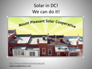 Solar in DC!  We can do it!